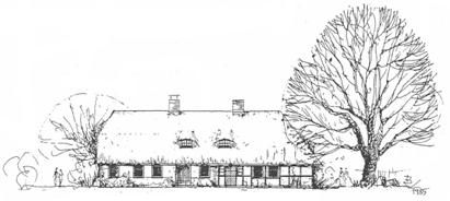 Weberkate und Ferienhaus in Strande